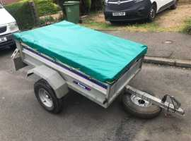 Larger Franc tipping trailer + cover/spare wheel