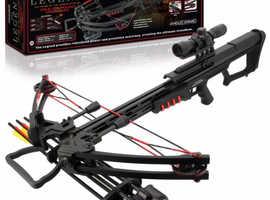 Anglo Arms Legend Mk-400 175lb Draw Quad Limb Compound Crossbow Set.