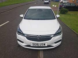 Vauxhall Astra, 2016 (16) White Hatchback, Manual Diesel, 25,170 miles