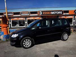 Volkswagen Touran, 2007 (57) Black MPV, Manual Diesel, 130,000 miles