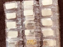 Silver Bullion Bars 100g fine silver .999 Umicore/Baird & Co