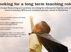 Looking for long term teaching role starting Jan 2019?
