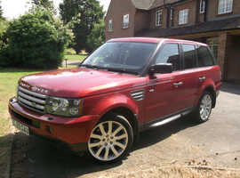 Land Rover Range Rover Sport, 2009 (09) Red Estate, Automatic Diesel, 110,000 miles