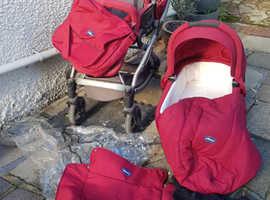 Chicco Artic Travel System Cot Pram Stroller Pushchair
