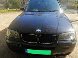 BMW X3, 2007 (07) Black Estate, Manual Diesel, 141,000 miles