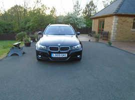 BMW 3 Series, 2009 (09) Black Estate, Manual Diesel, 129,900 miles