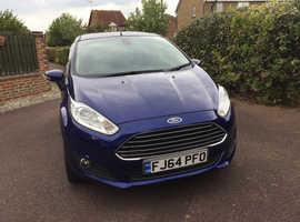 Ford Fiesta, 2014 (64) Blue Hatchback, Manual Diesel, 78,500 miles 60 mpg free road tax