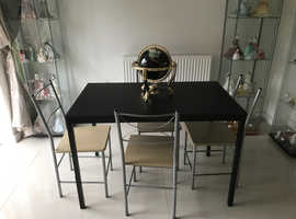 Dining table & chairs - ideal if space is limited