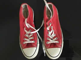 Converse red shoes, size 6