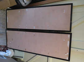 "2 Large Metal Framed Notice / Pin Boards. 48"" by 15"""