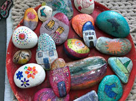 Pretty painted pebbles from Veryan