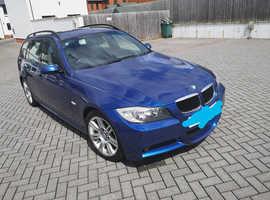 BMW 3 Series, 2006 (06) Blue Estate, Manual Petrol, 24,801 miles