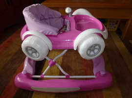 Pink My Child Baby Car 2 in 1 Walker Rocker in Very Good Condition