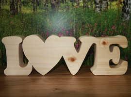 HANDMADE, SOLID WOOD, LOVE DECORATION