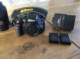 Nikon d5100 with lens and extras