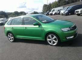 Skoda Rapid, 2014 (64) Green Hatchback, Manual Petrol, 114,000 miles