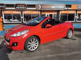 Peugeot 207, 2011 (61) Red Convertible, Manual Diesel, 76,000 miles