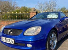 Mercedes Slk, 2002 (52) Blue Saloon, Manual Petrol, 46,322 miles