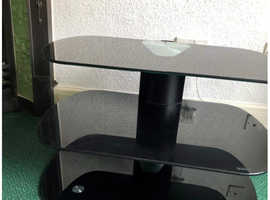 FREE - BLACK GLASS 3 TIER TV STAND