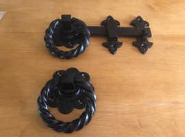 Black Antique Heavy Cast Iron Door Latch