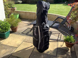 PING PIONEER BLACK GOLF CART BAG  WITH COVER