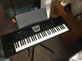 Roland BK-3 Backing Keyboard Black with Good quality Double Keyboard stand