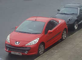 Peugeot 207, 2007 (57) Red Coupe, semi Automatic Petrol, 51,000 miles