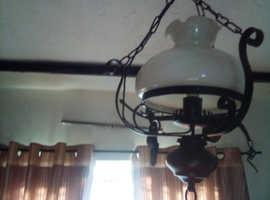 Antique glass ceiling lights