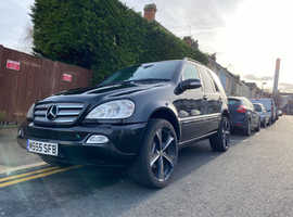 Mercedes M-CLASS, 2004 (54) Black Estate, Automatic Diesel, 129,000 miles