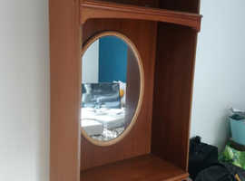 VGC Vintage Retro Dresser Drawers Unit with Mirror & Light