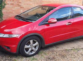 Honda Civic, 2007 (07) Red Hatchback, Manual Diesel, 109,901 miles