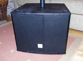 The Box Pro Achat 112 Sub A active subwoofer, boxed, VGC, serious sub. Speaker pole available.