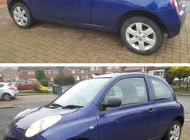 Nissan Micra, 2003 (03) Blue Hatchback, Manual Petrol, 36,900 miles