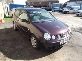 Volkswagen Polo, 2002 (52) Red Hatchback, Manual Petrol, 63,000 miles