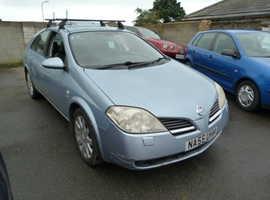 Nissan Primera, 2005 (55) Blue Hatchback, Manual Diesel, 103,000 miles