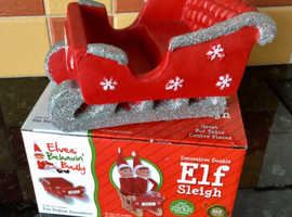 NEW. Elf sleigh, fits 2 naughty elves ! Ideal for sweets or display