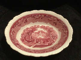 Collectable vintage Mason's vegetable dish in pink vista pattern