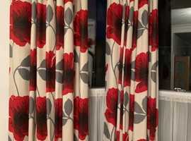 poppy curtains 3 pairs - bought from next