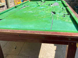 8ft x4ft slate bed snooker table
