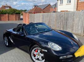Porsche Boxster, 2008 (08) Black Convertible, Manual Petrol, 59,700 miles