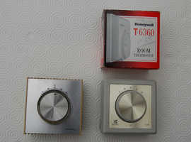 Two Wall Mounted Room Thermostats, Sunvic TLM 2253 & Satchwell TLX 2356, both Used.