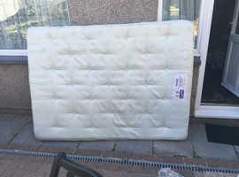 Slumberland double mattress with fire retardant label