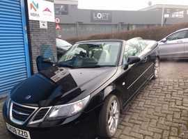 2008 Saab 9-3 Vector convertible in black, 1.8 turbo petrol, Long MOT, Amazing condition