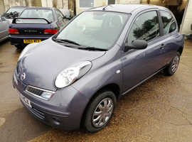 Nissan Micra Visia, 1.2 Petrol, 2009/09, Grey, 3 Door Hatchback, Manual, 45000 miles, New MOT, Service History