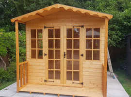 Georgian Summerhouse with 2ft Porch (Various Sizes)