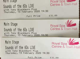 4 Tony Blackburn 'Sounds of the 60's Live Tickets at Leamington