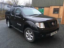 Nissan Navara, 2005 (55) Black 4x4, Manual Diesel, 155,000 miles