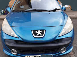 Peugeot 207, 2007 (07) Blue Hatchback, Manual Petrol, 100,200 miles