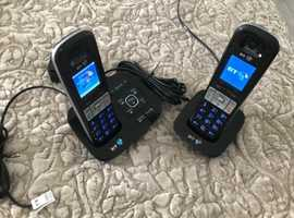 BT Advanced call blocker twin Phone plus extra base and phone  with Answering  Machine