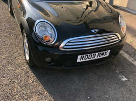 Mini MINI, 2009 (09) Black Convertible, Manual Petrol, 132,000 miles